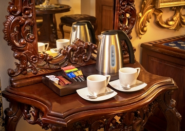 Feel free to make coffee or tea in the comfort of your single room.