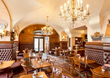 Interior of the restaurant U Prince in Prague